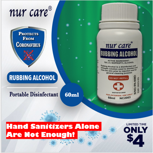 Nur Care Rubbing Alcohol 60ml