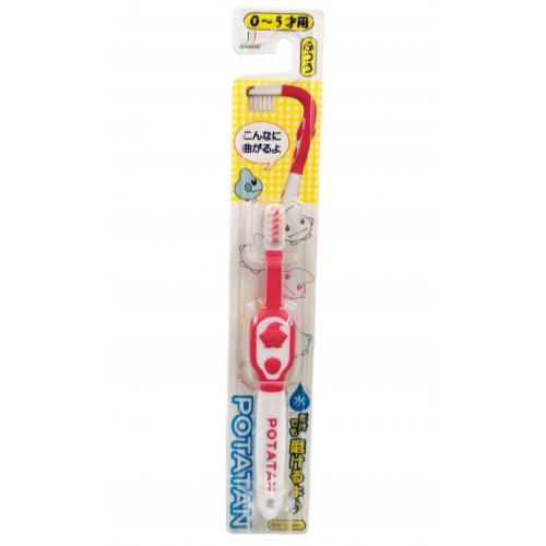 Potatan tooth brush For Baby Ion Antibacterial Type (Pink / 0-5 years old)